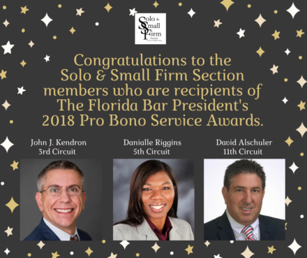 2018 Pro-Bono Award Winners Graphic