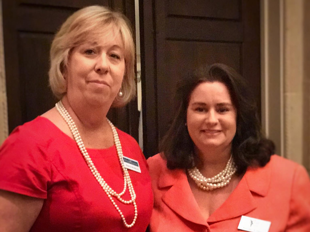 Paralegal of the Year Marcia Muldoon and Jennifer Dietz