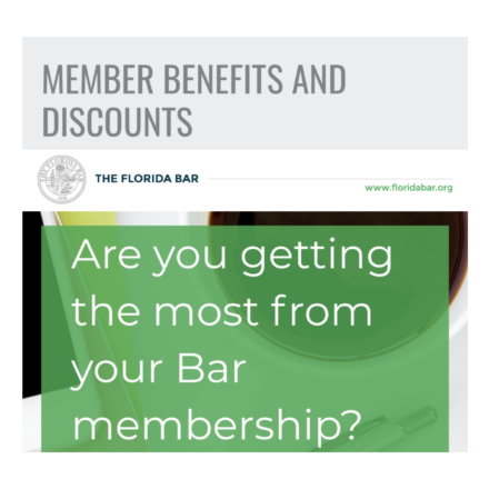 Florida Bar Benefits Graphic