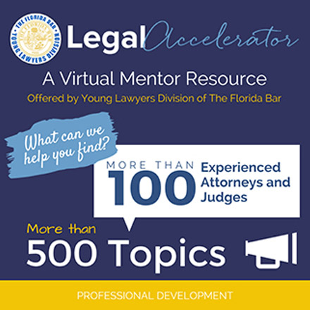 Young Lawyers Division Legal Accelerator Graphic