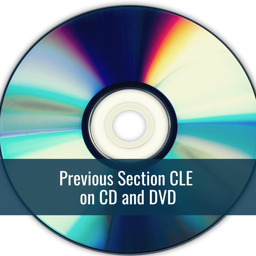 Previous Section CLE on CD and DVD