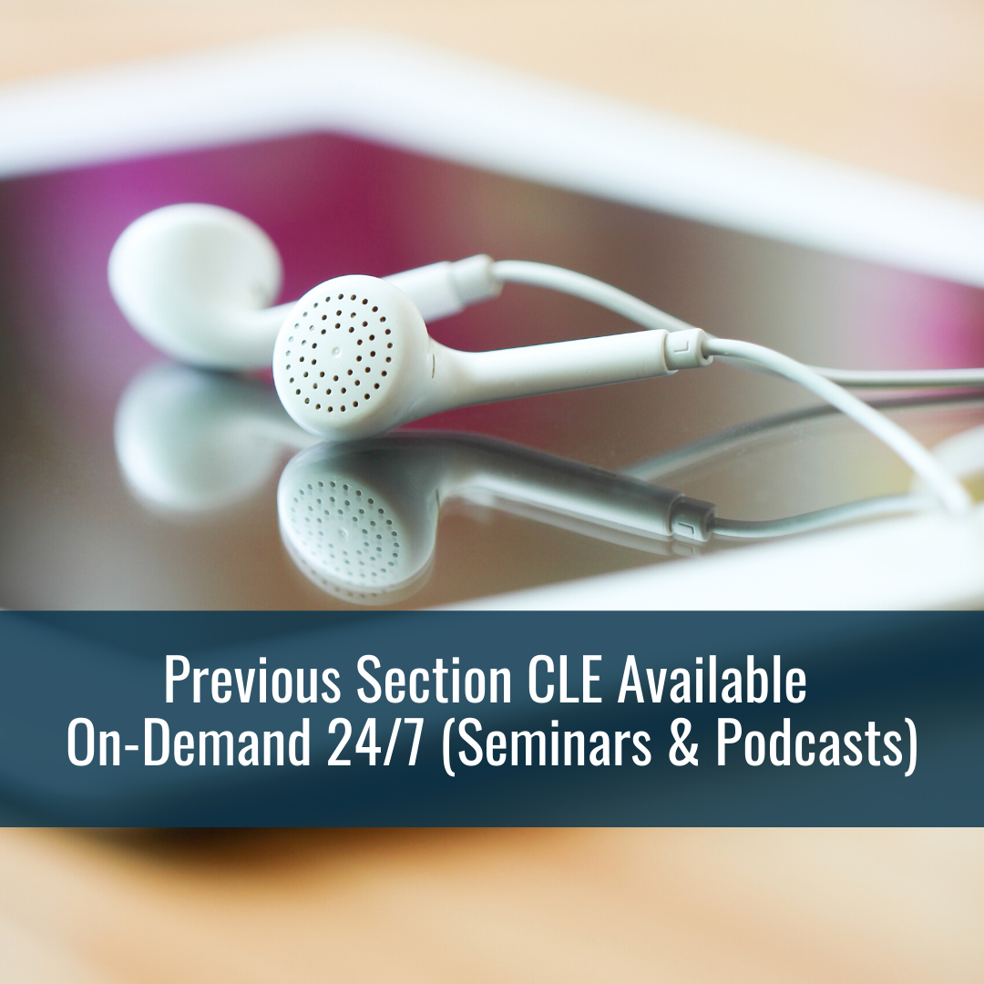 Previous Section CLE On-Demand