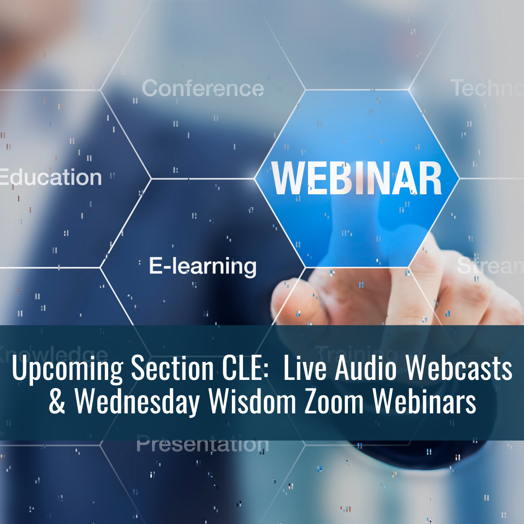 Upcoming Section CLE