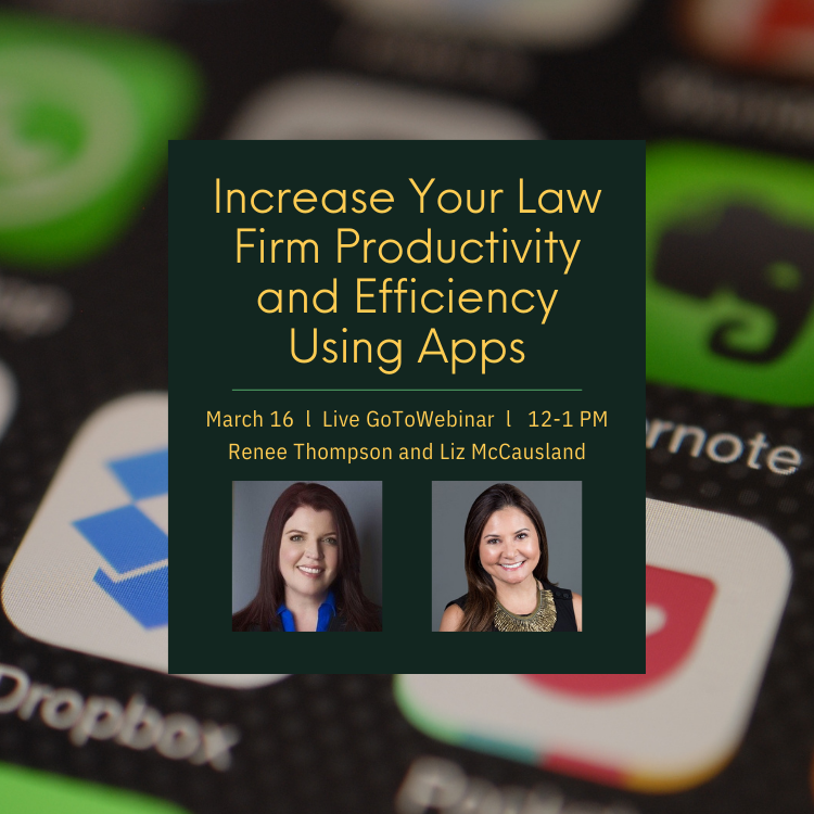 Increase Your Law Firm Productivity With Apps